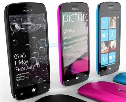 诺基亚牌WP7手机概念图曝光:采用大触摸屏设计