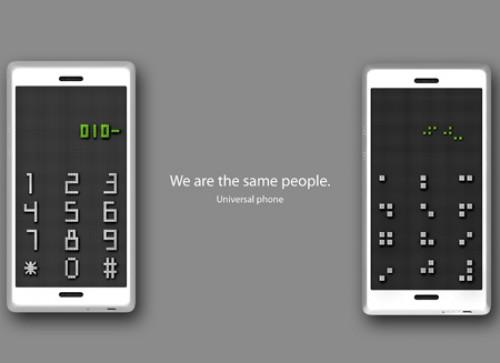 概念设计---为盲人设计的手机图片